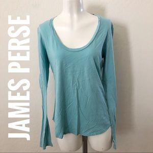 James perse blue Long sleeve